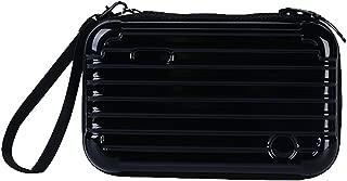 Cosmetic Bag Makeup Case Travel Toiletry Bag Clutch Makeup Storage Handbag for Women (Black)