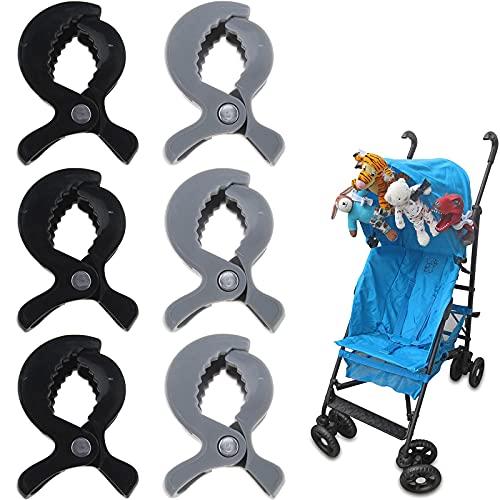 Pinza 6 Piezas Clip Casual Clip de Toalla Clip Universal Clips de Toalla Clips de Toallas Clip de plástico Soporte Grande Clips de Gancho para el sillón de la Piscina del Barco de Crucero Negro Gris