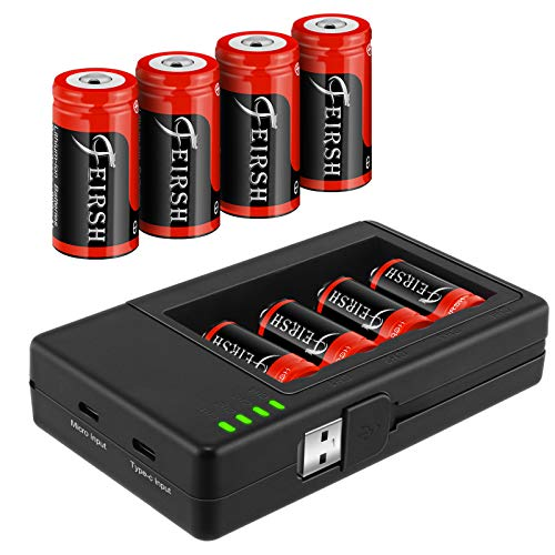 8 Pack CR123A Battery,QUICKHELP 3.7V 800mAh Arlo Rechargeable Batteries and Charger Compatible with Arlo VMC3030 VMK3200 VMS3130 3230C 3430 3530 Wireless Security Cameras(Upgraded)