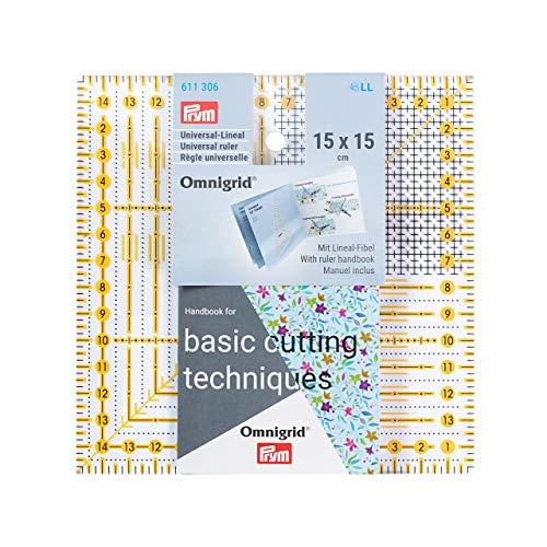 Prym Universal 15 x 15 cm Omnigrid Lineal, Kunststoff, transparent