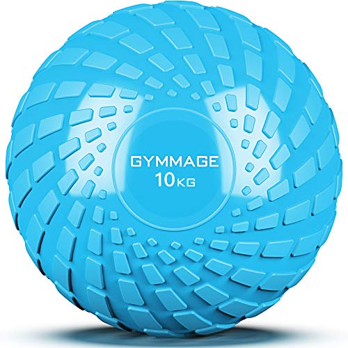 GYMMAGE メディシンボール 10kg 筋力トレーニング スラムボール エクササイズ (ブルー)