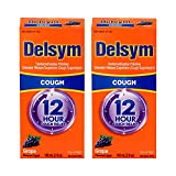 Delsym Adult Cough Suppressant Liquid, Grape Flavor, 5 Ounce (Pack of 2)