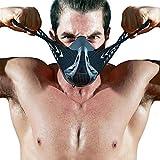 Fdbro Masque de sport couvrant la bouche pour haute altitude, entraînement, conditionnement physique, Carbon Fibre, moyen