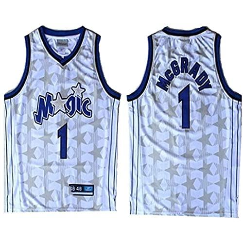 XSJY Jersey Men's NBA Orlando Magic # 1 Tracy McGrady Vintage All-Star Jersey, Tejido Fresco Transpirable, Uniforme De Baloncesto Uniforme,B,XXL:185~190cm/95~110kg