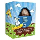 Moo Free - Huevo de Pascua y botones de chocolate, 120 g