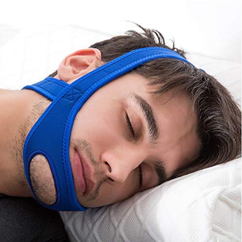 DYWOZDP Anti Schnarchen Geräte Kinnriemen - Advanced Solution Stop Schnarchen Schlaf-Stop Schnarchen Schlafmittel, effektiv Schlafbeschwerden lindern (2 Stück),Blau