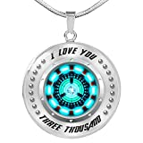 iron arc reactor - Fa Gifts Iron Man Necklace, Arc Reactor Pendant Necklace, I Love You Three Thousand 3000 Circle Necklace, Iron Man Arc Reactor - Luxury Necklace Silver - Includes Gift Box!