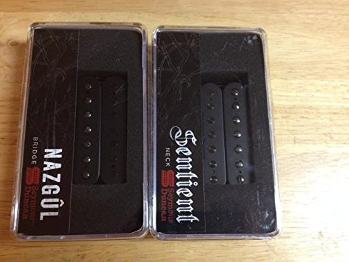 Seymour Duncan Nazgul & Sentient 7 String Set Uncovered Black Guitar Pickup Set
