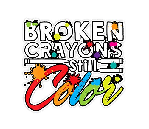 Sophia 3 PCs Stickers Broken Crayons Still Color - 3×4 Inch Die-Cut Wall Decals for Laptop Window Car Bumper Helmet Water Bottle