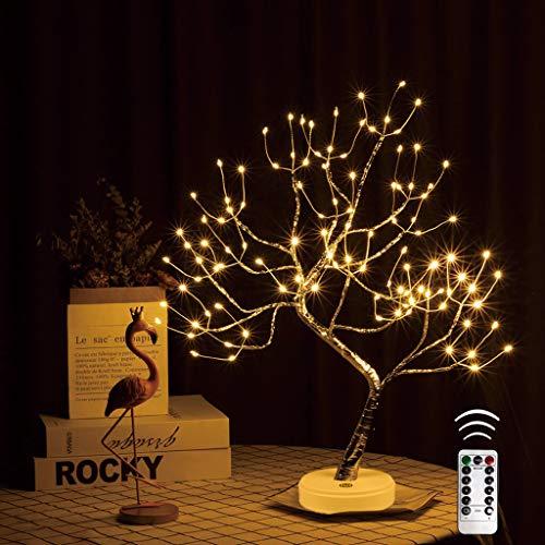 VIMUKUN Bonsai Tree Light Fairy Tree Light, 8 Modos 108L Regulable Control Remoto Luces LED Decoración Linda de la habitación, para el hogar/Boda/Fiesta/Festival/Decoraciones navideñas, USB y batería