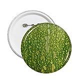 DIYthinker Green Pumpkin Peel Macro Photo Patterns Round Pins Badge Button Clothing Decoration