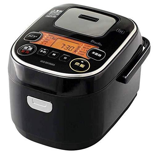 アイリスオーヤマ IH炊飯器 3合 IH式 31銘柄炊き分け機能 極厚火釜 玄米 ブラック RC-IE30-B