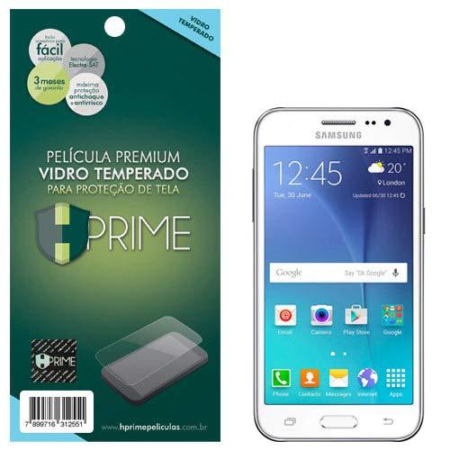 Pelicula de Vidro temperado 9h HPrime para Samsung Galaxy J2, Hprime, Película Protetora de Tela para Celular, Transparente