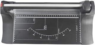 JenLn Cortador de Papel Manual de precisión Cortador de Papel fotográfico Afilado Cortador de Papel Giratorio Capacidad para 10 Hojas plástico Negro 43.5x21.8x8cm