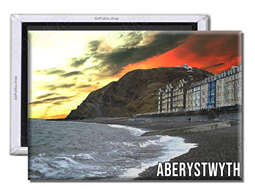 GoPukka - Imán para Nevera de Recuerdo Aberystwyth Gales, plástico, Standard: 70x45mm