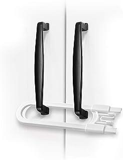 Adoric Sliding Cabinet Locks, U Shaped Baby Safety Locks, Childproof Cabinet Latch for Kitchen Bathroom Storage Doors, Kno...