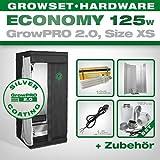 Growmart GrowPRO 2.0 XS - Kit complet chambre de culture en intérieur avec éclairage à économie d'énergie 125 W