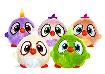 JOY TOY The Angry Birds Movie 2 Plush Figures with Sound 8 cm Hatchlings Slammers Displa