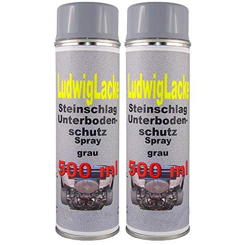 2 x 500 ml Spray Steinschlagschutz grau überlackierbar mit Autolack