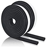 Foam Tape Self Adhesive Weatherstrip for Door Seal and Window, Insulation Single Sided Seal Strips Rubber Tape, 2 Rolls,1/2'T,1/2'W,14ft per roll