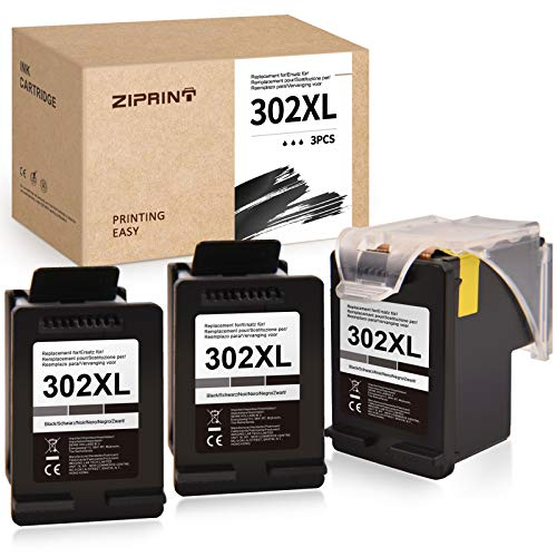 Ziprint compatibile HP 302XL HP 302 cartucce per HP DeskJet 1110 DeskJet 2130 3630 3636 3639 OfficeJet 3830 3831 3833 OfficeJet 4520 4525 4650 4655 5230 Envy 4510 4525 (3x nero)