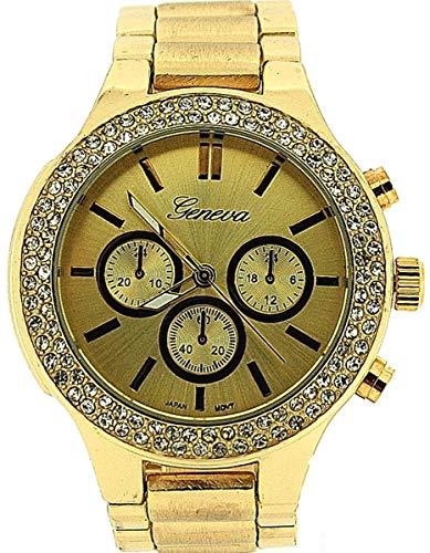 Geneva GE0741gold - Reloj, Correa de Metal Color Dorado