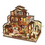 HEYANG Miniatura 3d invernadero Mini Room Craft Kits DIY casa de muñecas con muebles y accesorios Juguetes educativos para niñas