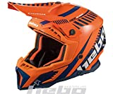 Hebo MX Stratos Casco Enduro, Adultos Unisex, Naranja, Medium