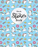 Blank Sticker Book: Unicorn blank sticker books, Unicorn Theme Softcover Blank Sticker Album, Sticker Album For Collecting Stickers For Adults,