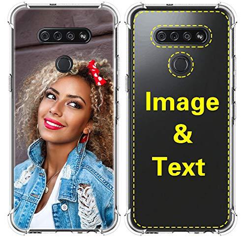 AIPNIS Cover Personalizzata per LG G6, con Assorbimento degli Urti Morbido Trasparente TPU Custodia con Foto Regalo Stampa HD