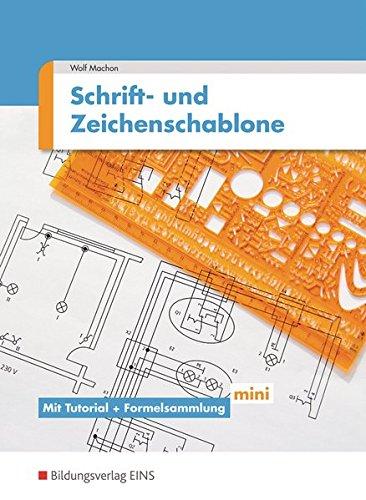 Schrift- und Zeichenschablone Elektrotechnik: mit Tutorial und Formelsammlung mini: Arbeitsheft
