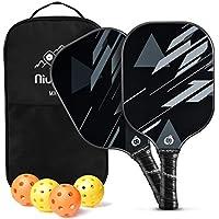 Niupipo Pickleball Paddles 4 Pickleball Balls & 1 Pickleball Bag Set