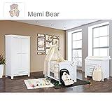 Babyzimmer Enni in weiss 10 tlg. mit 2 türigem Kl. + Textilien von Memi Bear Beige