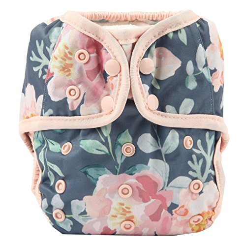 One Size Cloth Diaper Cover Snap with Double Gusset (Rose)