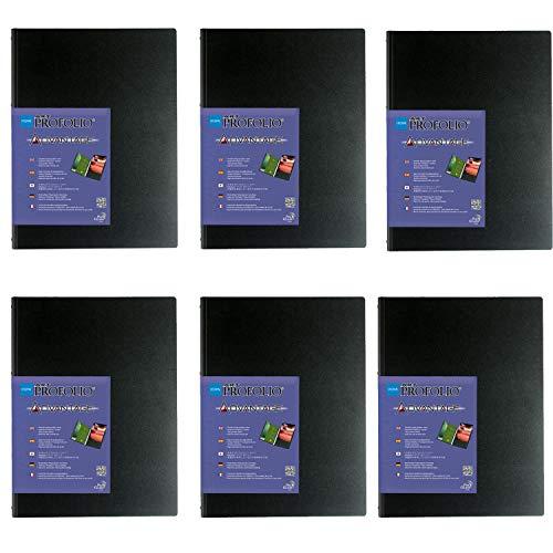 ITOOYA ART PROFOLIO ADVANTAGE 8X10 인치 프레젠테이션 디스플레이 북 6 팩 키트 + PHOTO4LESS 클리닝 천