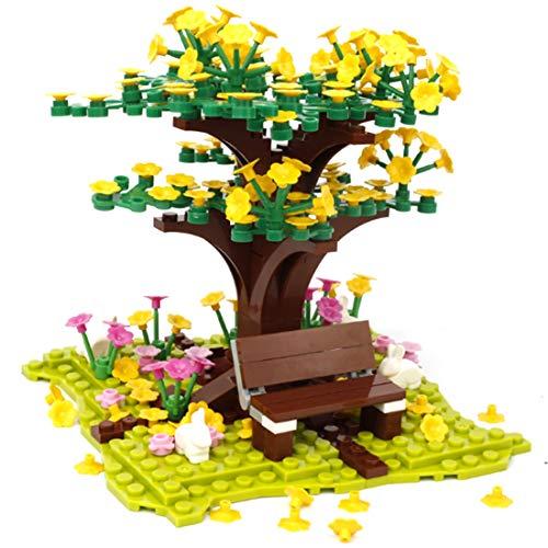 Bulokeliner 200 piezas DIY Ciudad, cerezo, plantas Sakura flores, bloques de construcción, ladrillos pedagógicos, juguete para niños, compatible con Lego