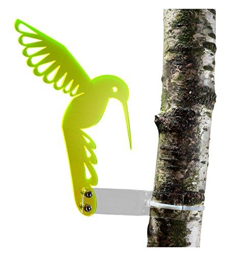 Buchenbusch Urban Design, Elemento fluo decorativo da giardino, colibrì fluorescente riflettore di luce solare, giallo