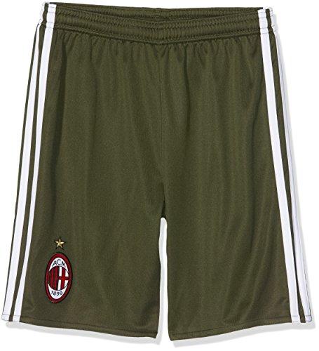 adidas ACM 3 SHO Y - 3 Mannschaftsbekleidung Kurze Hose AC Milan 2015/16 - Junge, Grün/Weiß, 128.