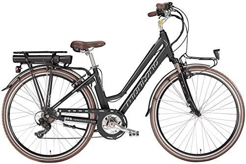 28 Zoll Elektro Damen Fahrrad Montana E-Bluecity Deluxe, Farbe:schwarz, Rahmengröße:44cm