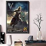 ruyanruomeng Cuadro Sin Marco Cuadros De Pared Vikingos Serie De TV Clásica Cartel E Impresiones Lienzo Decorativo para El Hogar Imagen Artística A734 (40X60Cm)