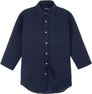 綿麻シャツ リネンシャツ 7分袖シャツ カジュアルシャツ メンズ リネン 麻混 長袖 七分袖 ストレッチ 綿麻