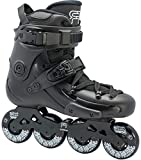 FR Skates FR1 Black 80 2019 Inline Skates for Freeride, Slalom, City Skating. Popular French Brand (M US 10 / EU43)