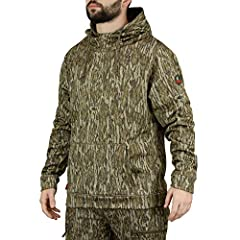 DESIGN: This camouflage hoodie is made from a 100% polyester smooth outer surface and a 230 gsm 7oz pique performance fleece inner lining. It features a drawstring hood, kangaroo hand warmer pocket, and elastic cuffs. COMFORT: A traditional hunting c...