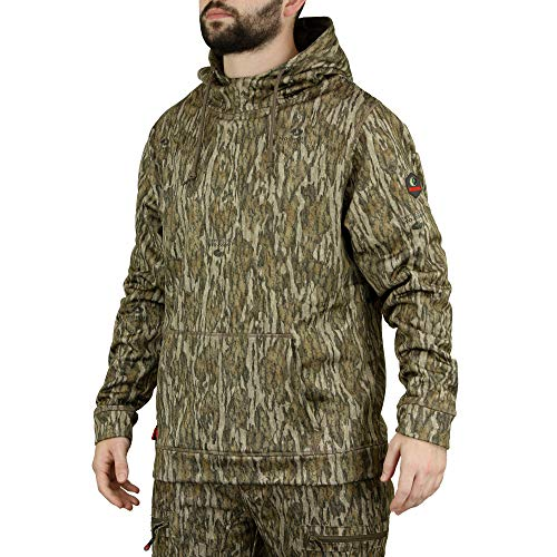 Mossy Oak Camo Hoodie for Men, Hunting Clothes for Men, Bottomland, X-Large