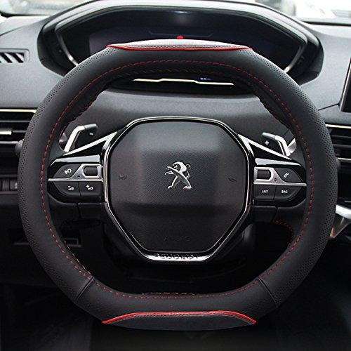 FMS Peugeot 4008 PU Pelle Coprivolante Copertura Volante Copri Volante Auto Automotive Interni Accessori-resistente, Traspirante, Anti-scivolo, Inodore