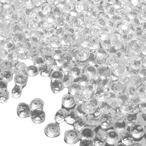 Demarkt–brillantes plano acrílico con brillantes Artificial Piedras joyas piedras Ropa DIY accesorios decoración Vino Rojo, Blanco, 4,5mm
