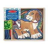 Melissa & Doug Holztafeln und passende Schnüre - Beliebte Haustiere (10 Teile)