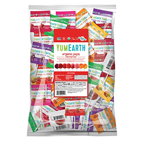 YumEarth Organic Lollipops Variety Pack 425 lb pack of 1  Allergy Friendly Non GMO Gluten Free Vegan Packaging May Vary