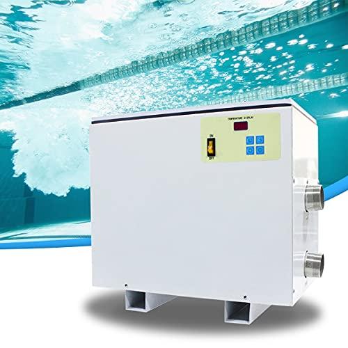 HIMAPETTR 45KW Luft Wärmepumpe für Pools, 220V/380V Poolheizungsthermostat, Poolheizung Schwimmbadheizung, für Schwimmbäder Hydrotherapie-Pools Landschafts- und Badebecken,220V 5.5KW