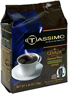 Gevalia Signature Blend Decaf Coffee, T-Discs for Tassimo Hot Beverage System, 16-Count Packages (Pack of 2)